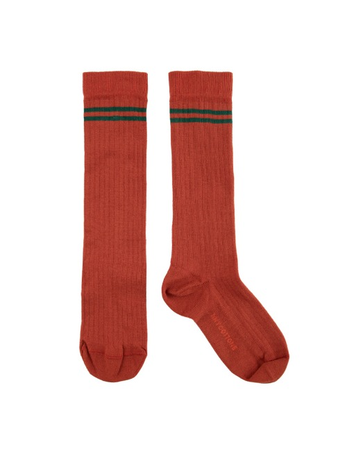 STRIPES HIGH SOCKS-SIENNA