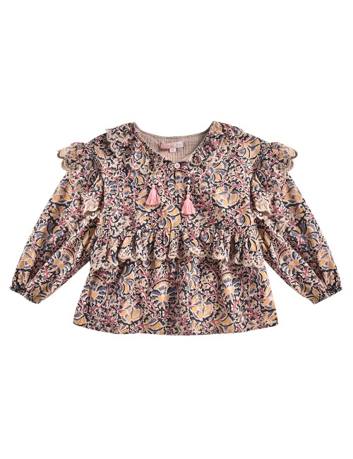 Blouse Gaita Nordish Flowers