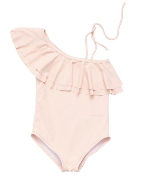 Onseshoulder swimsuit-pink