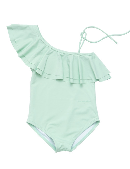 [20%]Onseshoulder swimsuit-Mint