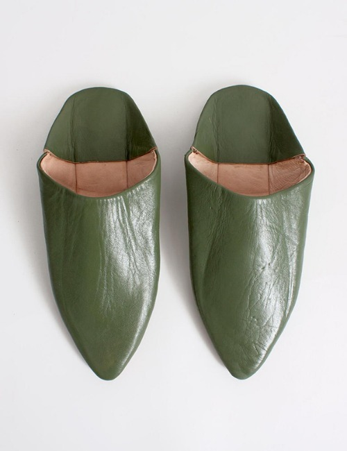 MOROCCAN BABOUCHE SLIPPERSOLIVE