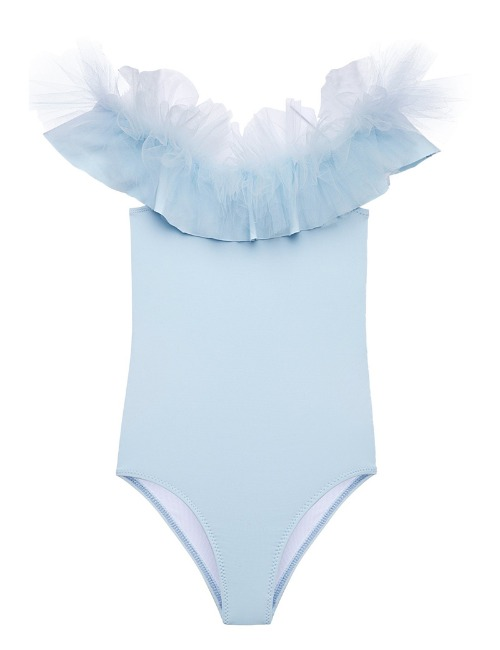 Tulle swimsuit blue