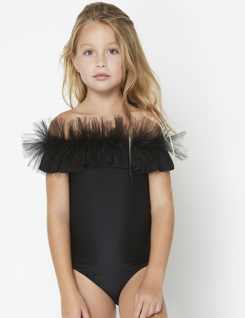 Tulle swimsuit black