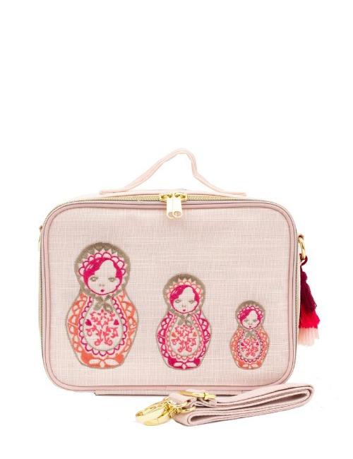 EMBROIDERED DOLLS LUNCH BOX
