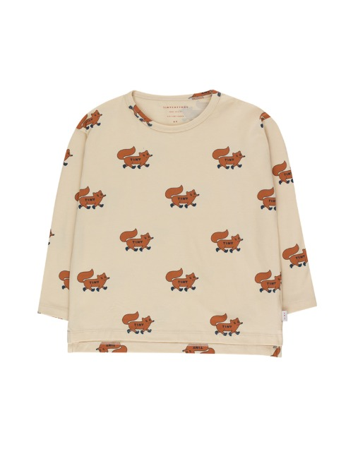 """FOXES"" TEE - CREAM"