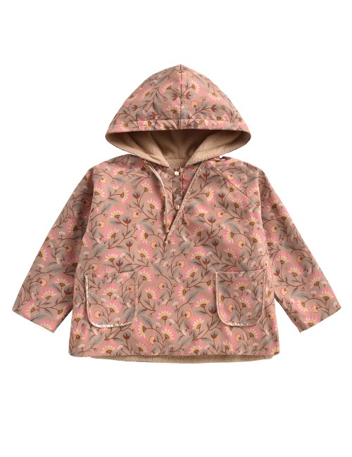Raincoat Mara Khaki Folk Flowers