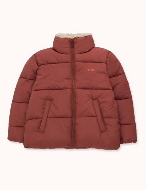SOLID PADDED JACKET-DARK BROWN
