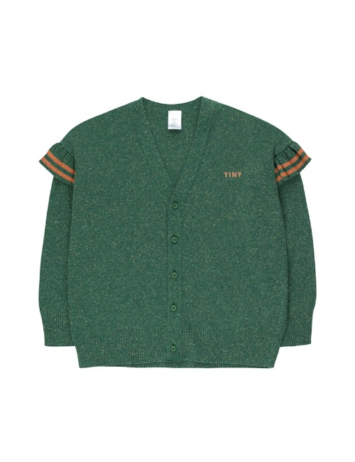 """TINY"" FRILLS CARDIGAN-DARK GREEN"