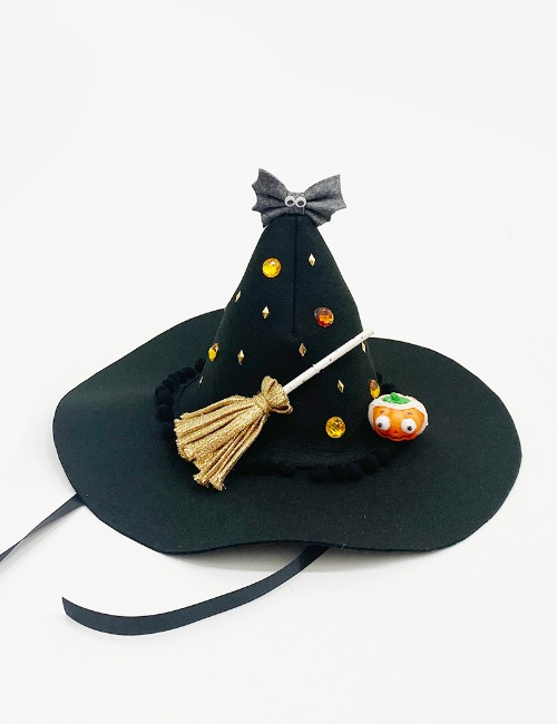 witch hat-pumpkin black