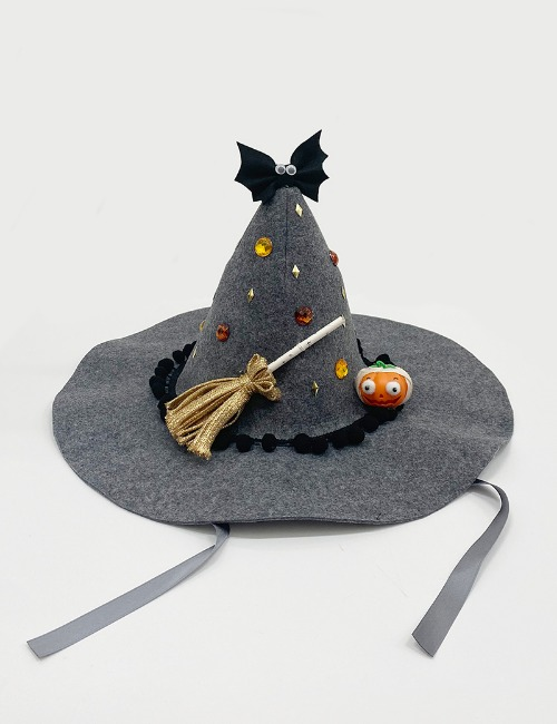 witch hat-pumpkin grey