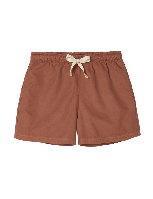Drawstring Relaxed Short-Russet