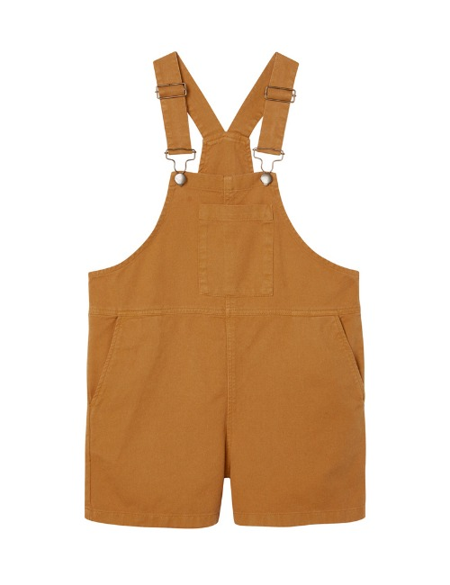 Wide Slouchy Fit Dungaree-Cinnamon