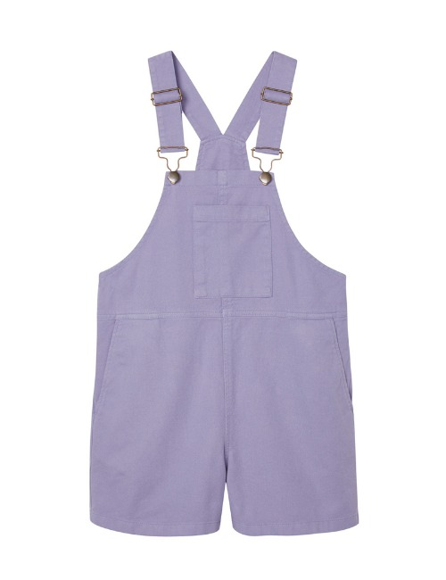 Wide Slouchy Fit Dungaree-Eventide